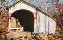 cou100849 - Covered Bridge Vintage Postcard