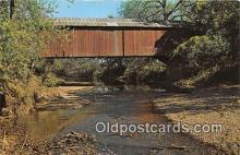 cou100850 - Covered Bridge Vintage Postcard