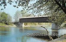 cou100851 - Covered Bridge Vintage Postcard