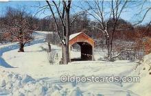 cou100853 - Covered Bridge Vintage Postcard