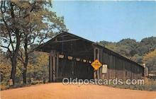 cou100854 - Covered Bridge Vintage Postcard
