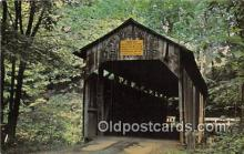 cou100855 - Covered Bridge Vintage Postcard