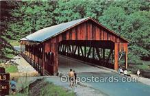 cou100856 - Covered Bridge Vintage Postcard