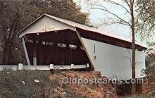 cou100858 - Covered Bridge Vintage Postcard