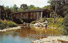 cou100859 - Covered Bridge Vintage Postcard