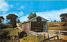 cou100860 - Covered Bridge Vintage Postcard