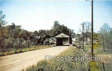 cou100861 - Covered Bridge Vintage Postcard