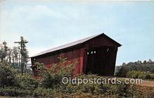 cou100863 - Covered Bridge Vintage Postcard