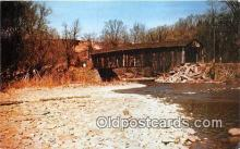 cou100865 - Covered Bridge Vintage Postcard