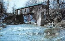 cou100866 - Covered Bridge Vintage Postcard