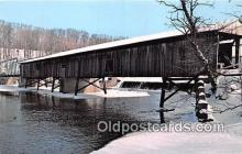 cou100868 - Covered Bridge Vintage Postcard