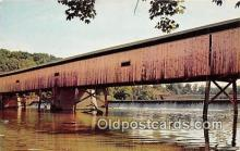 cou100869 - Covered Bridge Vintage Postcard