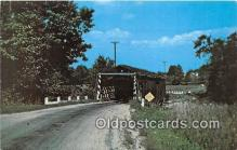 cou100870 - Covered Bridge Vintage Postcard