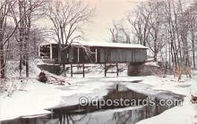 cou100871 - Covered Bridge Vintage Postcard