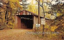cou100873 - Covered Bridge Vintage Postcard