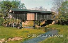 cou100874 - Covered Bridge Vintage Postcard