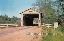 cou100875 - Covered Bridge Vintage Postcard