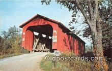 cou100877 - Covered Bridge Vintage Postcard