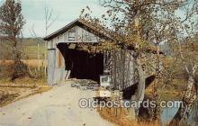 cou100878 - Covered Bridge Vintage Postcard