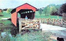 cou100879 - Covered Bridge Vintage Postcard
