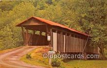 cou100883 - Covered Bridge Vintage Postcard