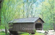 cou100884 - Covered Bridge Vintage Postcard