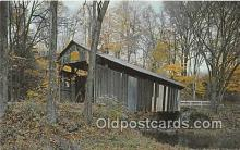 cou100887 - Covered Bridge Vintage Postcard