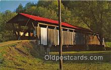 cou100889 - Covered Bridge Vintage Postcard