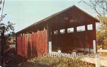cou100890 - Covered Bridge Vintage Postcard