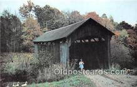 cou100892 - Covered Bridge Vintage Postcard