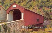 cou100893 - Covered Bridge Vintage Postcard