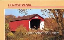 cou100896 - Covered Bridge Vintage Postcard