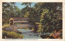 cou100897 - Covered Bridge Vintage Postcard