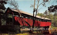cou100898 - Covered Bridge Vintage Postcard