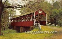 cou100899 - Covered Bridge Vintage Postcard
