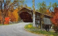 cou100901 - Covered Bridge Vintage Postcard