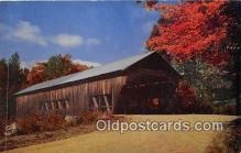 cou100902 - Covered Bridge Vintage Postcard