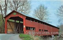 cou100904 - Covered Bridge Vintage Postcard