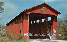 cou100905 - Covered Bridge Vintage Postcard