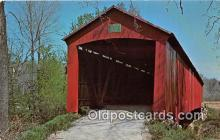 cou100906 - Covered Bridge Vintage Postcard