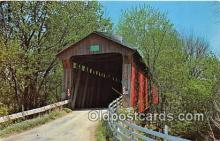 cou100907 - Covered Bridge Vintage Postcard