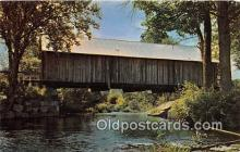 cou100909 - Covered Bridge Vintage Postcard