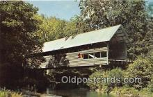 cou100910 - Covered Bridge Vintage Postcard