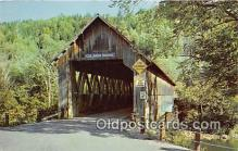 cou100911 - Covered Bridge Vintage Postcard