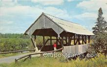 cou100912 - Covered Bridge Vintage Postcard