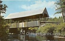 cou100914 - Covered Bridge Vintage Postcard
