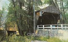 cou100915 - Covered Bridge Vintage Postcard