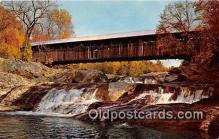 cou100917 - Covered Bridge Vintage Postcard