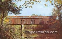 cou100918 - Covered Bridge Vintage Postcard