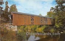cou100919 - Covered Bridge Vintage Postcard